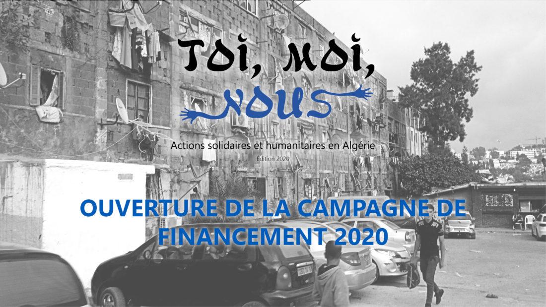Début de la campagne de financement «Toi, moi, nous» 2020